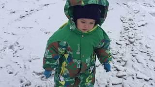 Первый лёд в Сибири. Идём с детьми на озеро