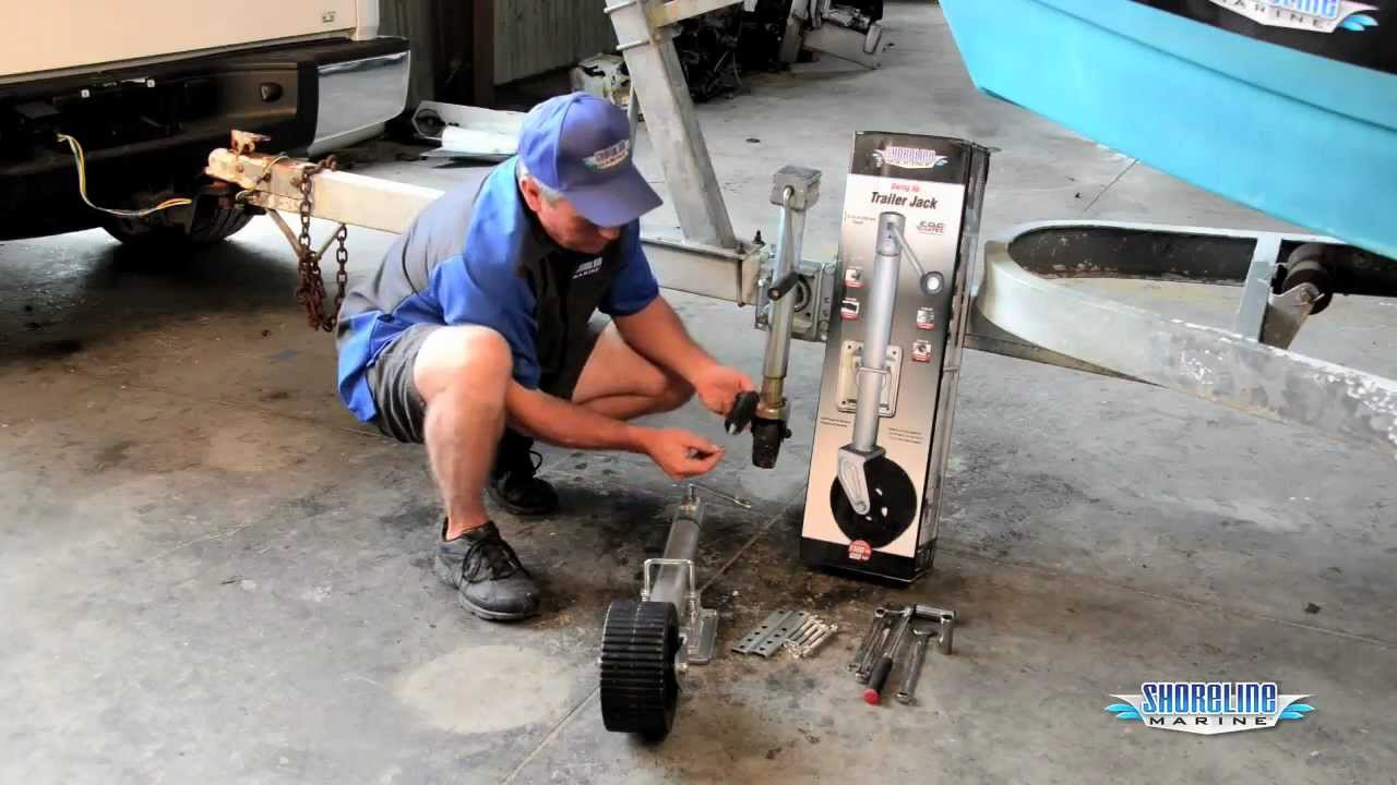 How to Mount a Swing-up Trailer Jack - YouTube