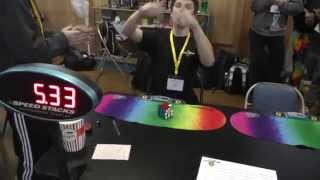 Rubik's cube world record fail (5.33 DNF)