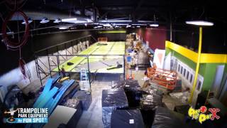 Aero Air Park Lewiston, Maine Installation by Funspot [Time Lapse]
