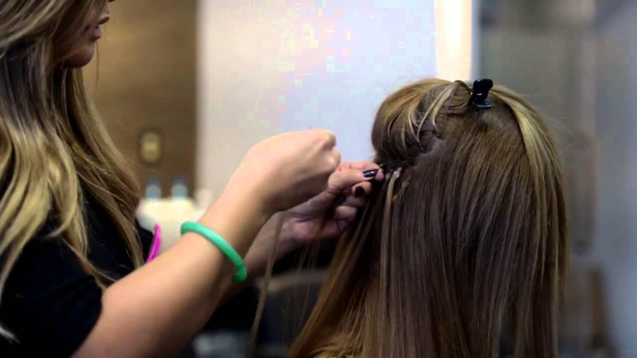 Babe Hair Flat Tip Hair Extension Turorial Youtube