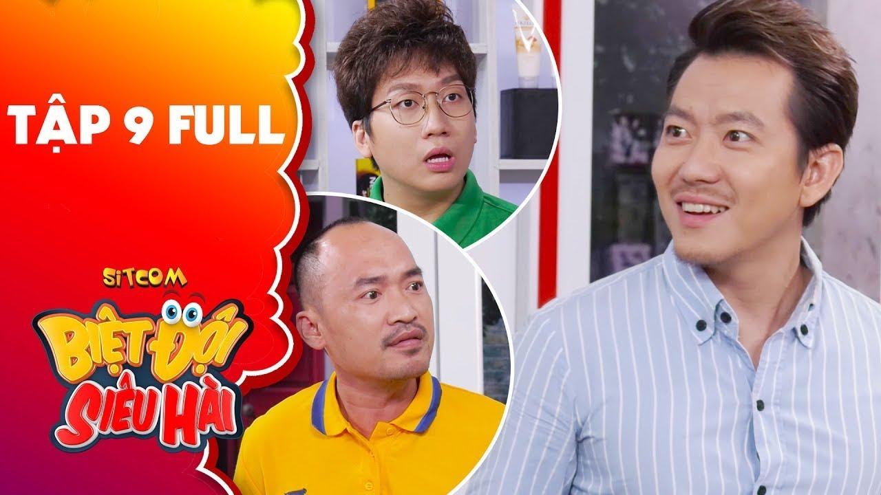 Biệt đội siêu hài   Tập 9 full: Tiến Luật, Phát La hiểu lầm giới tính Pompatama
