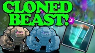 clash royale   clone spell golem deck new clone spell   finally got the inferno dragon