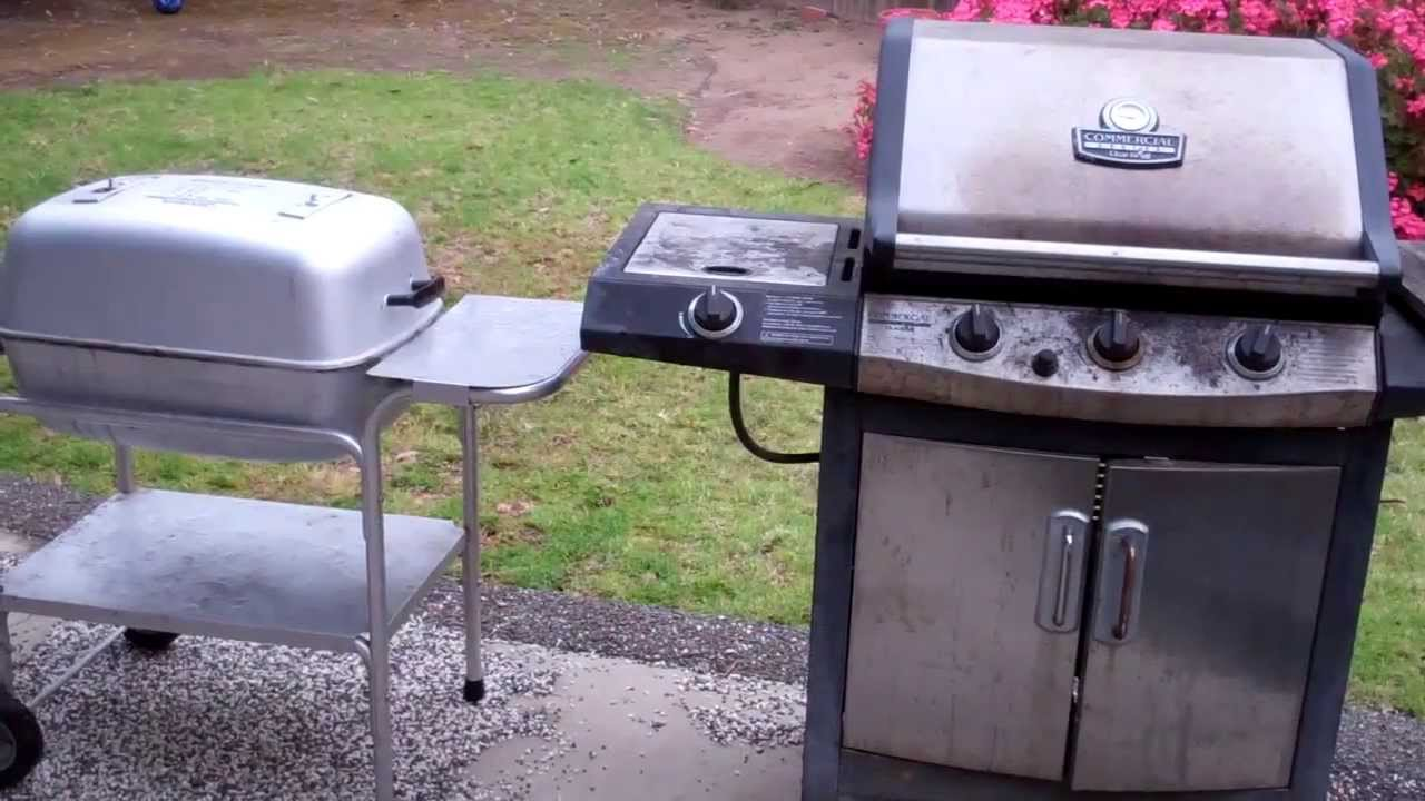 Weber Elektrogrill Vs Gasgrill : Pk grill vs. gas grill youtube