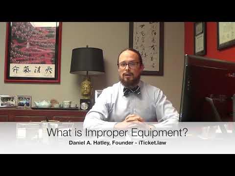 What Is Improper Equipment In North Carolina?