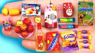 25 EASY REALISTIC DIY MINIATURE BARBIE IDEAS ~,Mini apples ,M&M Icecream, Fanta and more!
