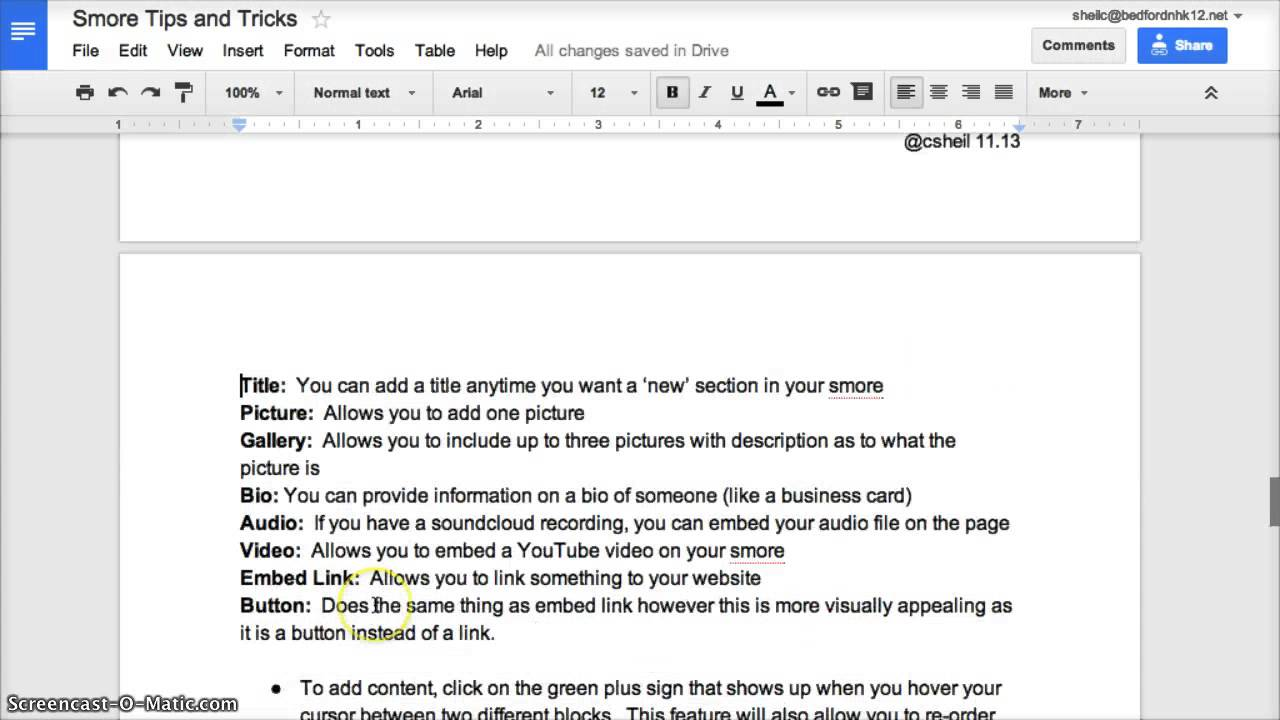 Tech Tip #6 - Using Page Breaks in Google Docs - YouTube