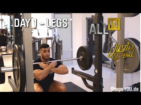 Justin St Paul - Legs Day 1 Workout ALL IN