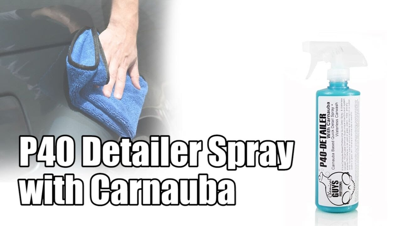 p40 detailer spray with carnauba chemical guys car care. Black Bedroom Furniture Sets. Home Design Ideas