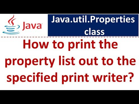 Java Tutorial: Java properties [How to print the property list out to the specified print writer]