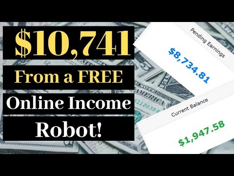 $10,741 With FREE Automated Online Income Robots - Affiliate Marketing Exposed!