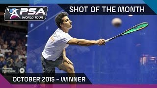 Squash: Shot Of The Month - October 2015: Winner - Mazen Hesham