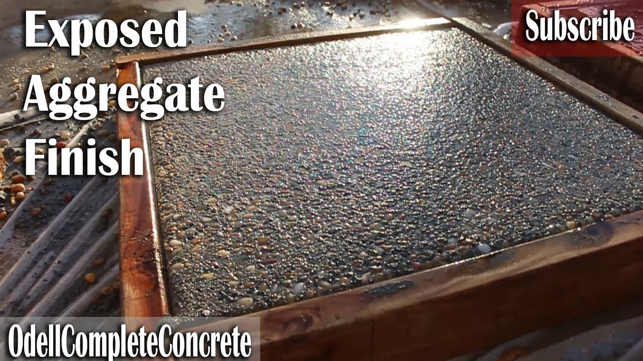 How To Get A Exposed Aggregate Finish On Concrete Youtube