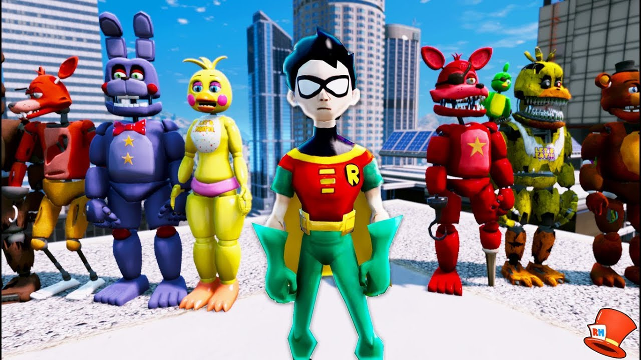 Animatronics Amp Teen Titans Robin Adventure Gta 5 Mods