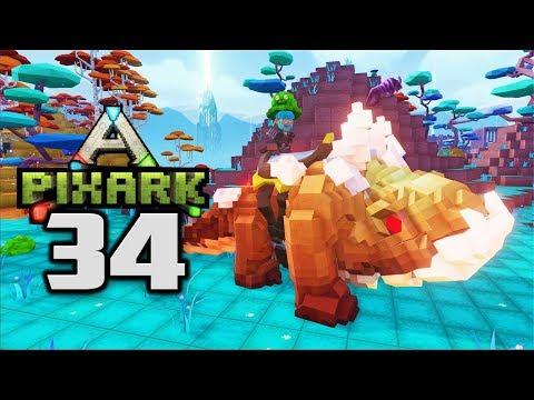 MEGAROCK DRAGON TAMED! LETS DIG! - Let's Play PixARK Gameplay Part 34 (PixARK Taming Pooping Evolved