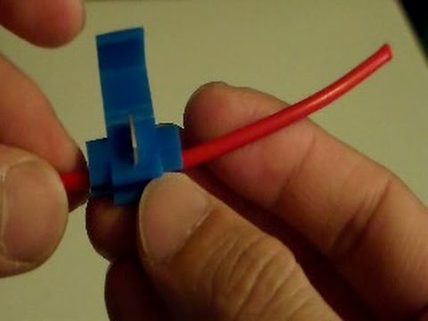 Connecting wires using Quick Splice Connector - Scotchlok - YouTube