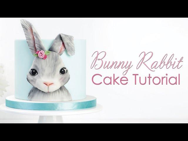 3D Bunny Rabbit Plaque - Cake Decorating Tutorial