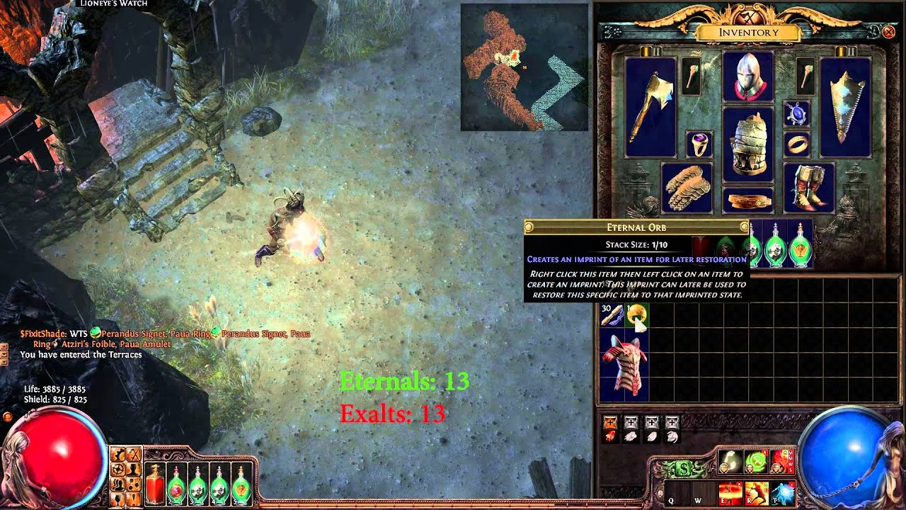 Path of Exile: Onslaught Crafting a Godly 6L Glorious Plate