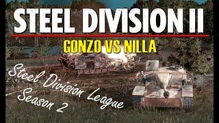 Gonzo vs Nilla! Steel Division 2 League, S2 Playoffs, FINAL - Game 2 (Ilomantsi, 1v1)