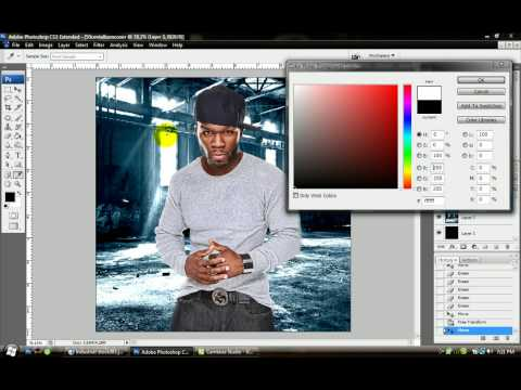 Making a CD Cover on Photoshop CS3 (ACTUAL TUTORIAL W/ SOUND ...