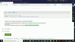 Questões ao vivo de VÁRIAS MATÉRIAS misturadas. Parte II.