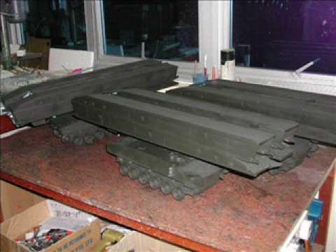 Advance Professional Model Tank Making -Building from Scratch-1/15 scale Bionix Bridge layer model
