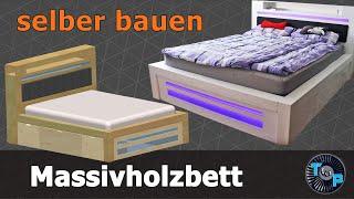 ! Bett einfach selber bauen (Massivholzbett)