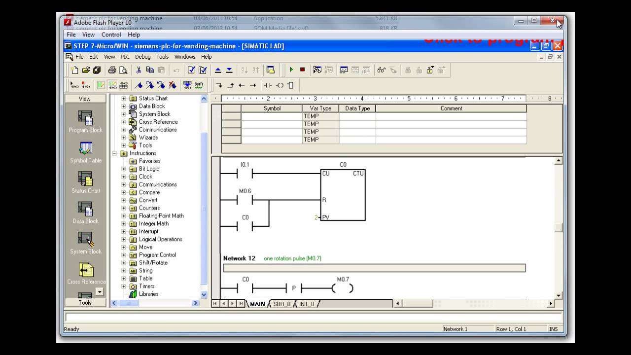Siemens Plc Program For Vending Machine Youtube