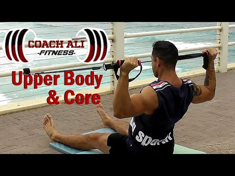 Upper Body & Core Resistance Band Workout plus Static Stretching