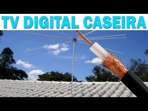 Funciona antena para tv digital hdtv caseira testado e for Antenas de tv interiores