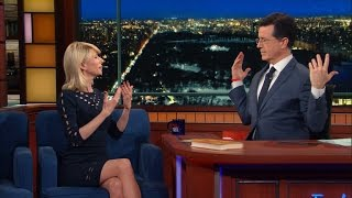 Amy Cuddy Helps Stephen Strike Some Power Poses