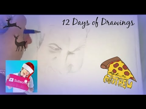 12 Days of Drawings: Day Four SayHiToMatthew!!