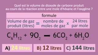 Calculer le volume des gaz   FuseSchool + Unisciel