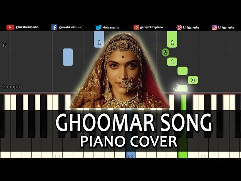 Ghoomar Song Padmavati | Piano Cover Chords Instrumental By Ganesh Kini