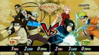 naruto ultimate ninja storm neji vs sasuke