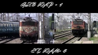 Old warhorses WAP-1 and WAM-4 at their best!! Two trains shows up with their old reliable links!!
