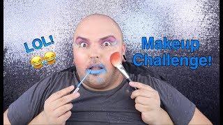Not My Hands Makeup Challenge   LMAO!!!