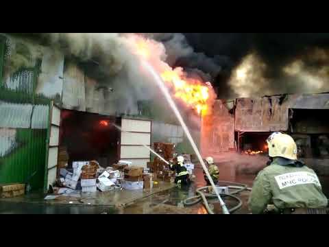 Пожар. Краснодар улица Кореновская