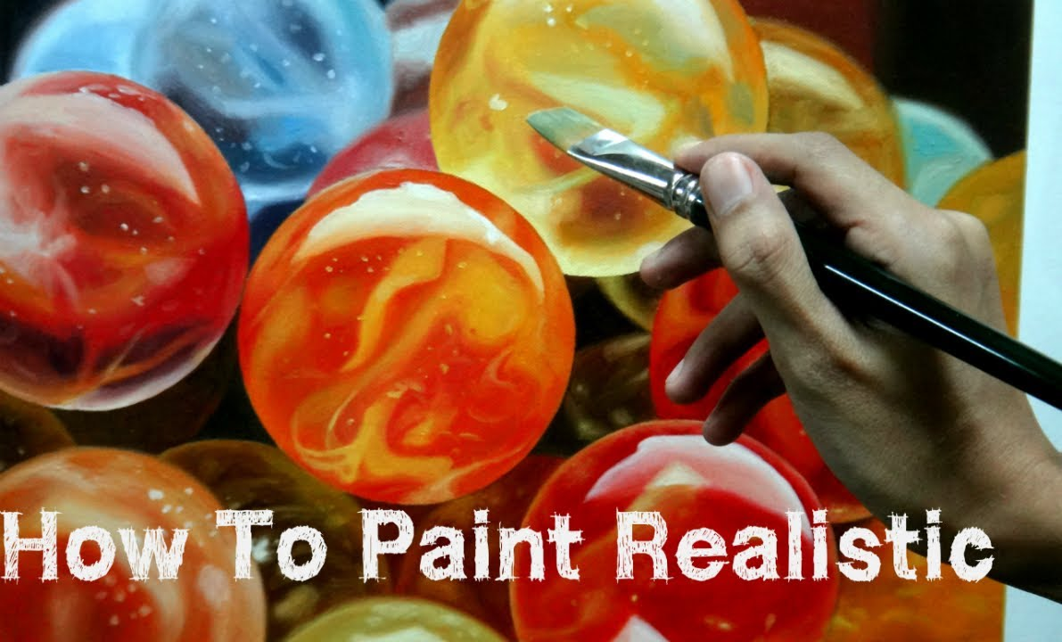 How To Paint Realistic Marbles Using Oil Painting Time Laps  YouTube
