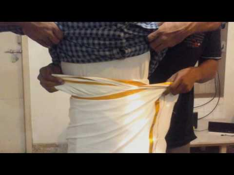 How to wear Dhoti (Tamil style) | Easy and simple way to wearDhoti