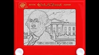 Photoshop Tutorial: How to Recreate a Classic, ETCH A SKETCH Drawing!