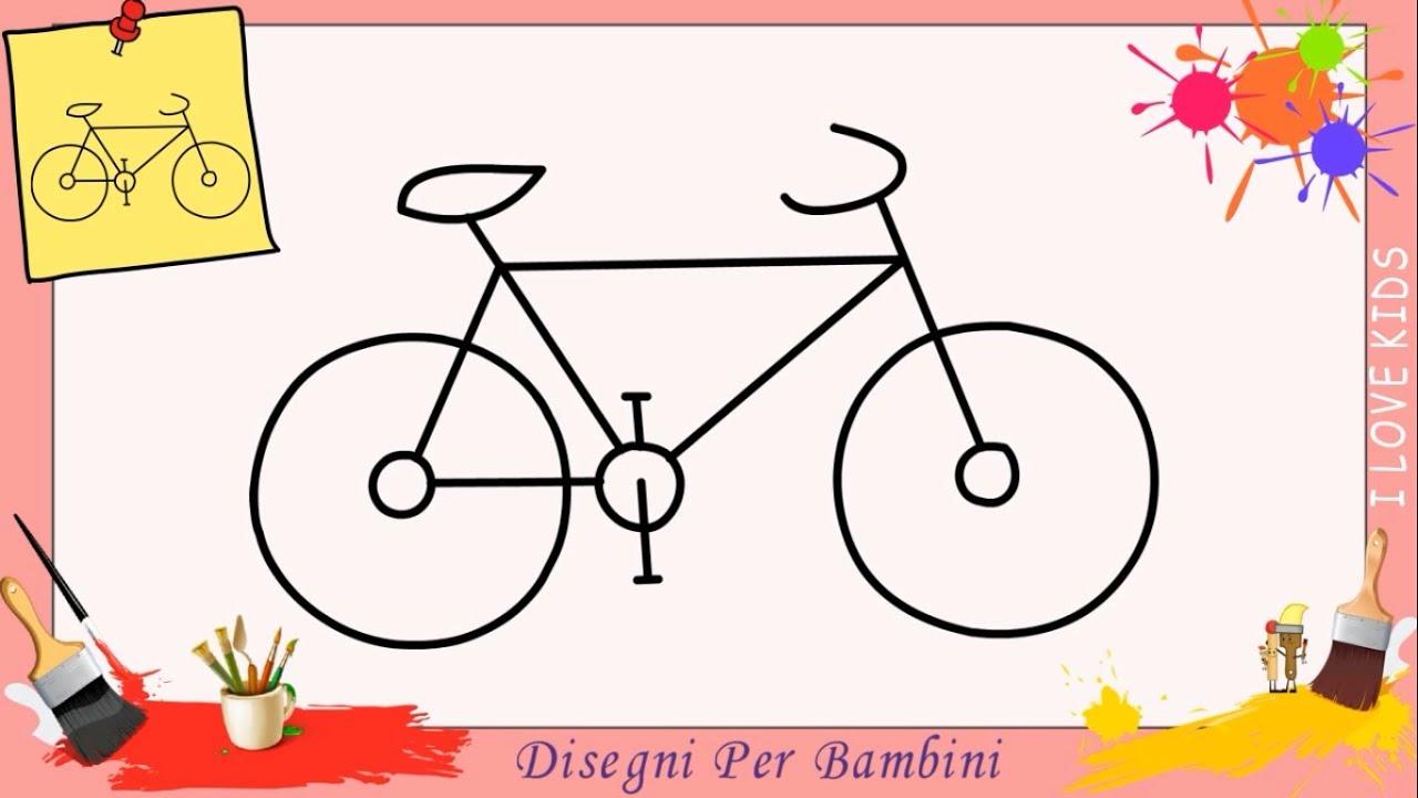 Come Disegnare Una Bicicletta 2 Facile Passo Per Passo Per Bambini