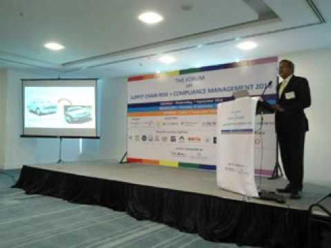 Mr. Venkataram Arabolu The Forum on Supply Chain Risk+Compliance Management 2016, Bengaluru 8 Sept.