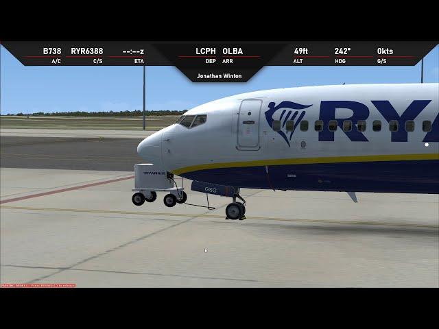 Paphos to Beirut/Yerevan and Milan   Ryanair PMDG 737 on Vatsim