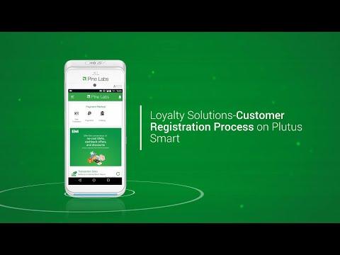 Loyalty Solutions- Customer registration process on Plutus Smart