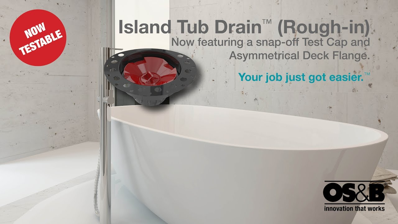 Island Tub Drain Installation Concrete Youtube