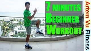 Awesome 7 Minutes FULL BODY Beginner Workout #ArtemFitness