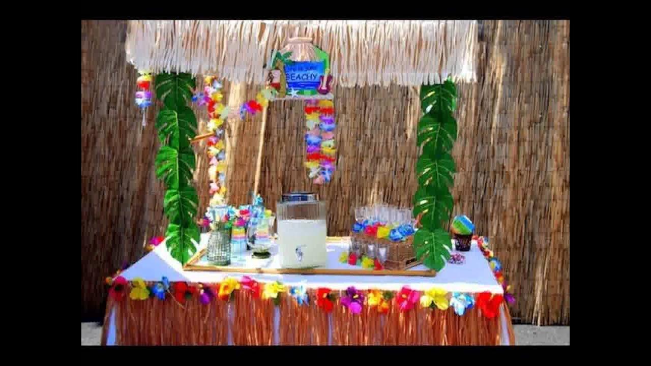 decoracao festa luau:decoração do festa luau para crianças – YouTube