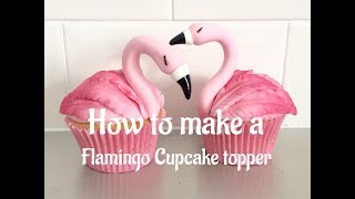 How to make Flamingo Cupcake Toppers tutorial