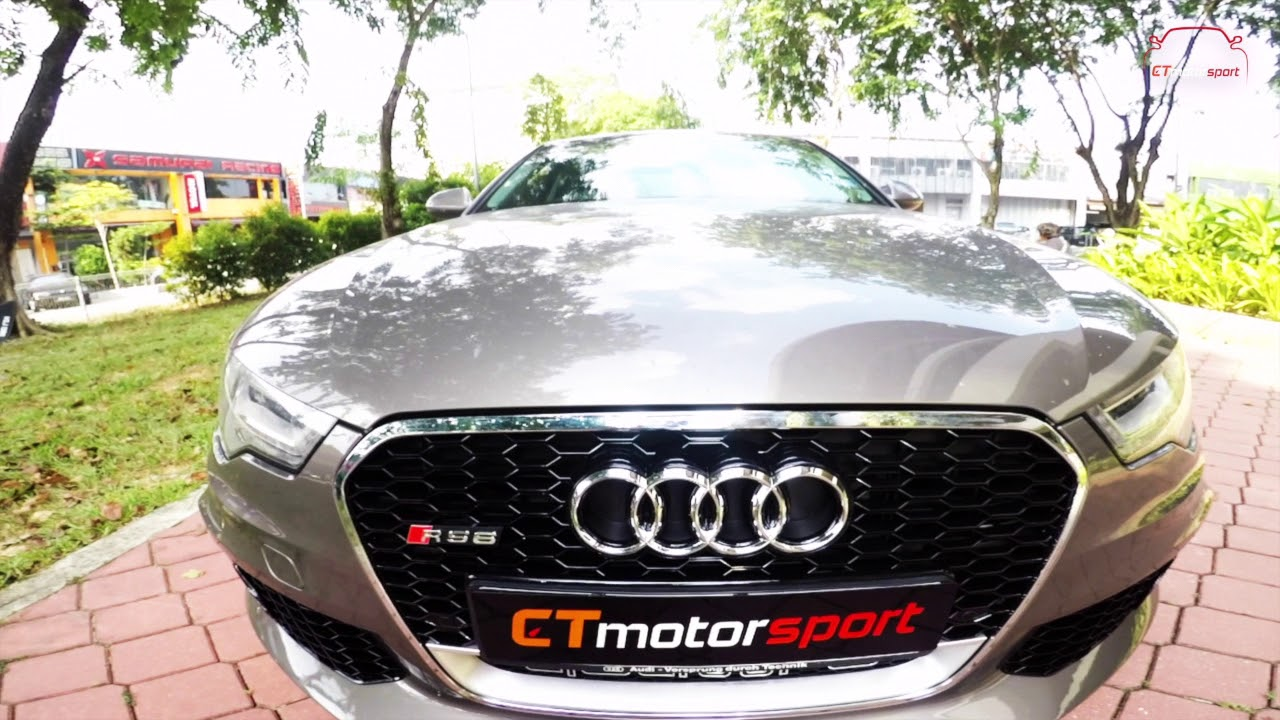 Audi A6 C7 Convert To RS6 Front Bumper Bodykit and Rear Bumper Diffuser